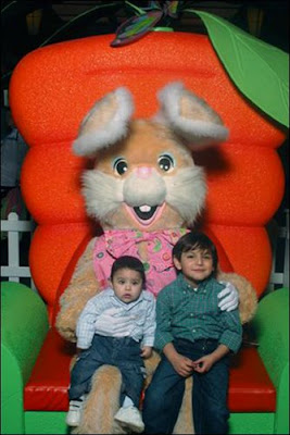 Little Cousins with Easter bunny