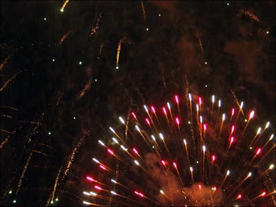 Ferris wheel fireworks