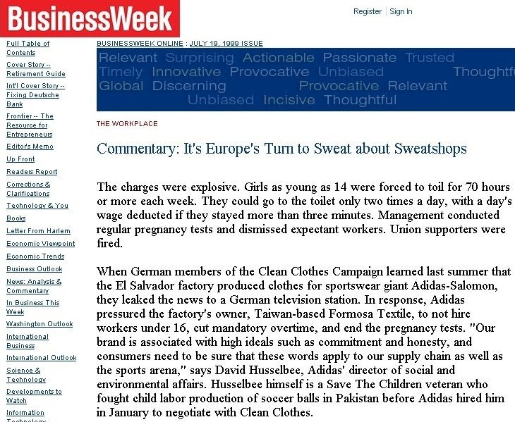 """sweatshops sweatshop and routine pregnancy tests Sweat shops page history (they do routine pregnancy tests) educates people about sweatshops and where to purchase """"sweatshop free"""" clothes."""