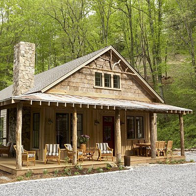 A refocused life i want one of these for Simple log house designs