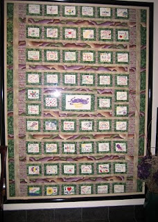 The quilt as it was hanging in the restaurant