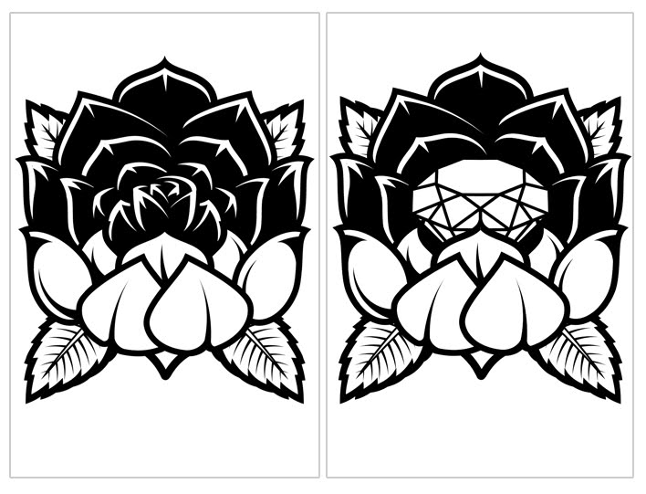 I WAS RECENTLY ASKED TO DESIGN A ROSE TATTOO KEEPING IT SIMPLE IN ONE COLOUR