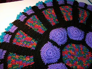 Free Crochet Pattern For Cathedral Window Afghan : PlaidKitty Crochet: Cathedral Rose Window Afghan