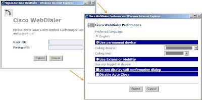 Cisco WebDialer login prompt