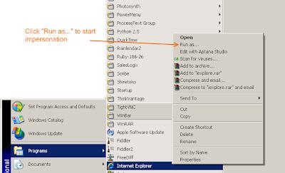 Windows Program Run As Comman