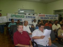 Mobilização na Câmara Municipal de Bebedouro