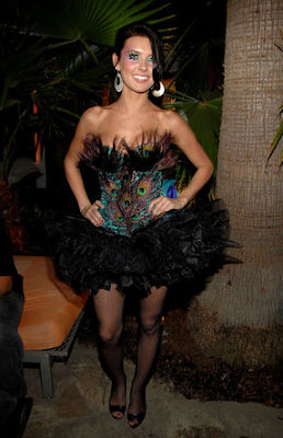 audrina patridge, sexy peacock costume, halloween, audrina from the hills