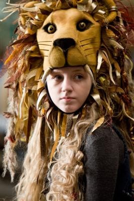harry potter, luna lovegood, lion headdress, lion mask, masks, luna, lovegood, harry potter movies