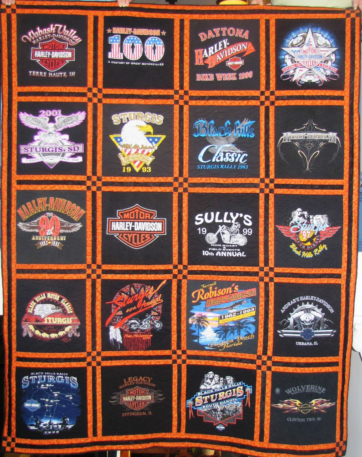 Quilt Made Of Old T Shirts