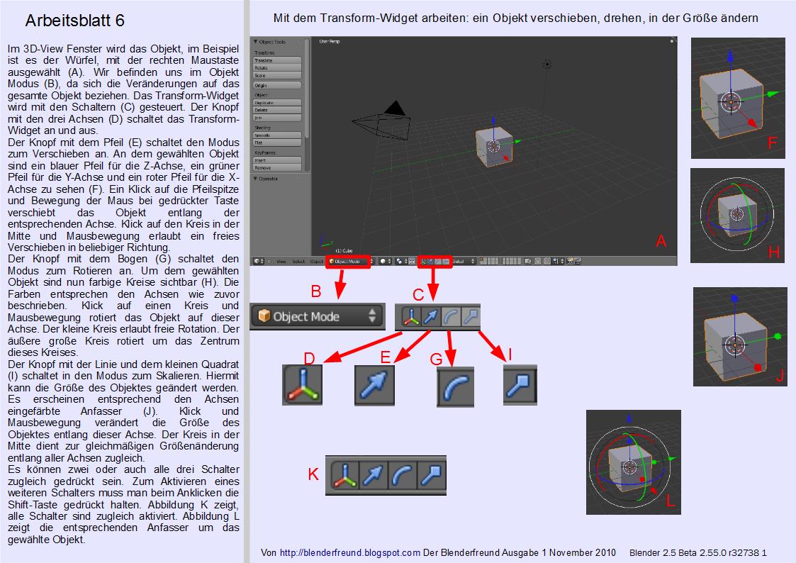 Blender 3D für Jedermann: Grundformen positionieren, drehen und in ...