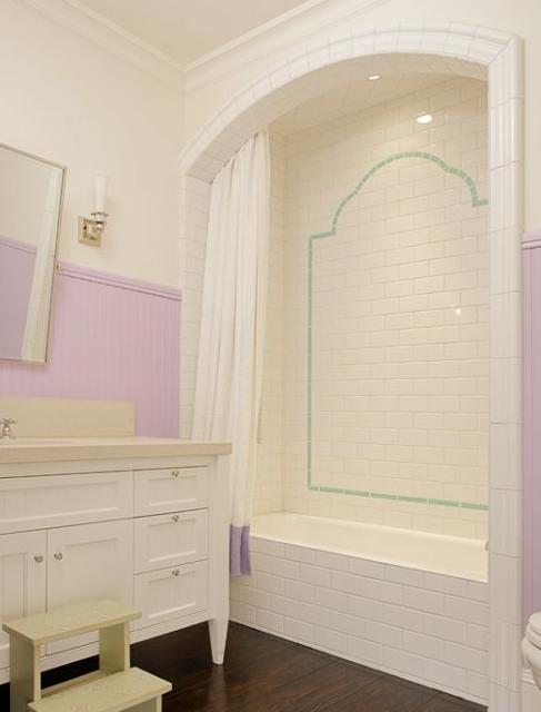 White Gold Kids Bathroom