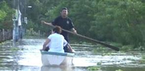 Se desborda río en Tlacuilotepec