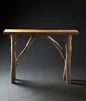 Stephane bergeron atelier du bois debout console c dre et - Console en bois flotte ...