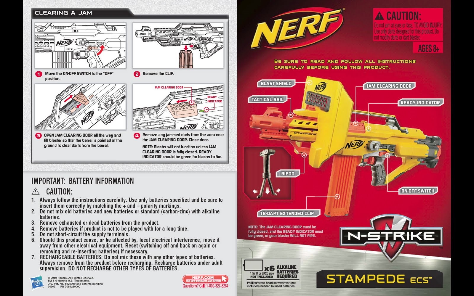 SG Nerf Nerf Stampede ECS Instruction Manual – Instruction Manual