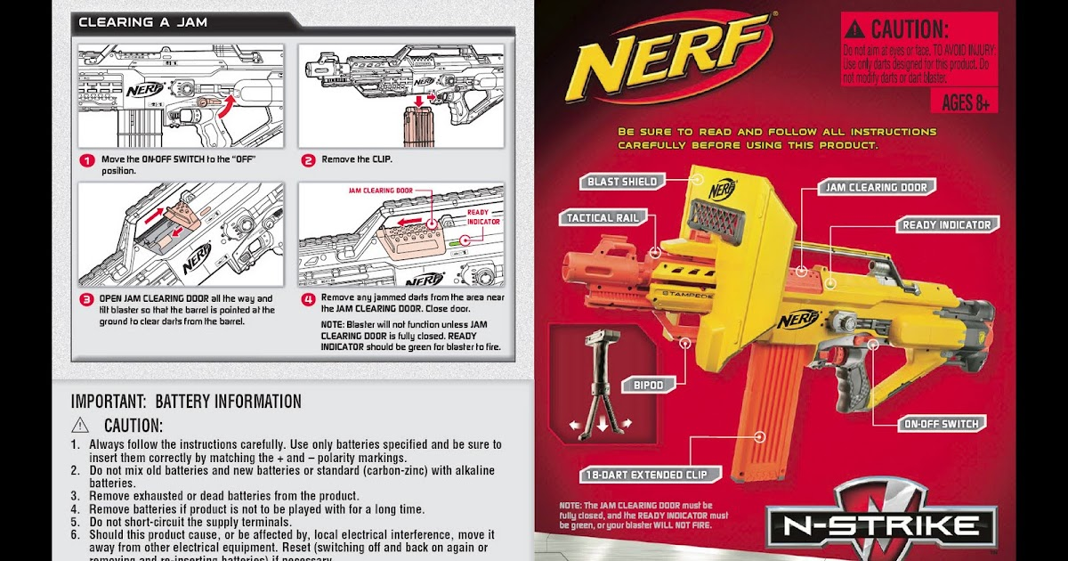 Sg Nerf Nerf Stampede Ecs Instruction Manual