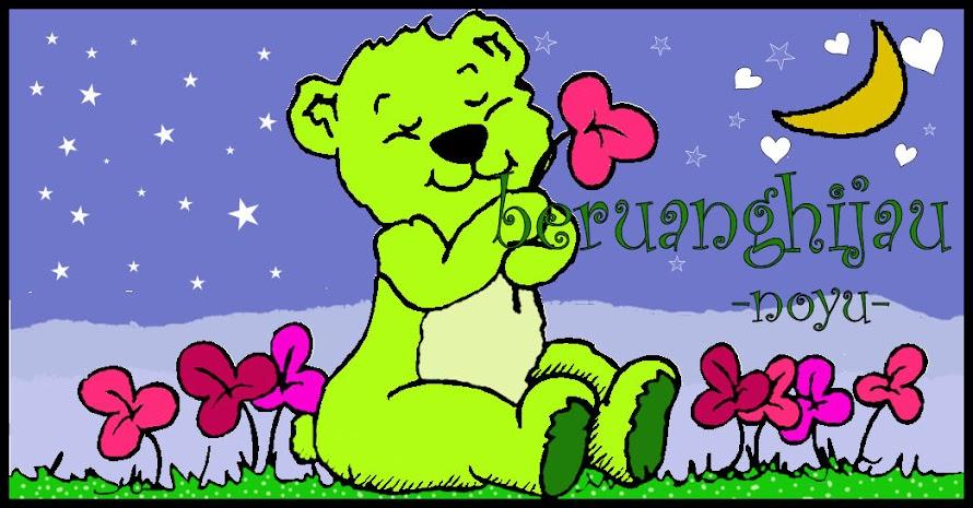 seekor beruang hijau bercerita