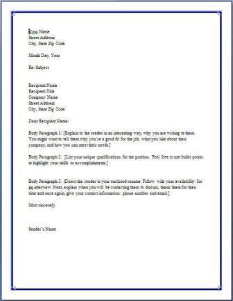 simple email cover letter for resumes