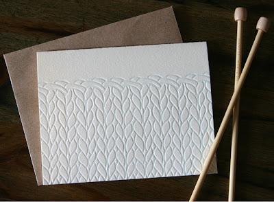 knit pattern letterpress