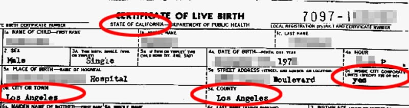 birth certificate california contact number image