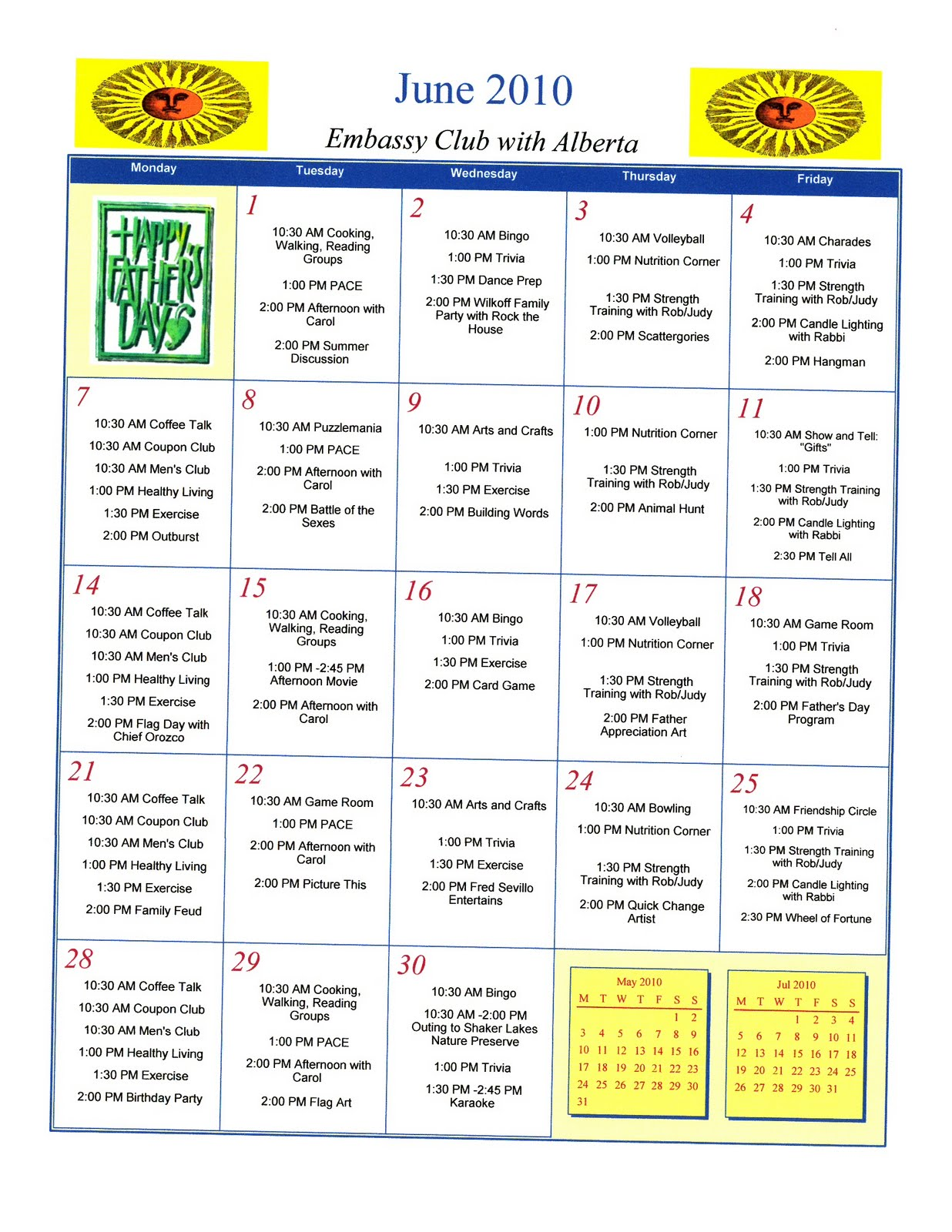 2010 calendars adult