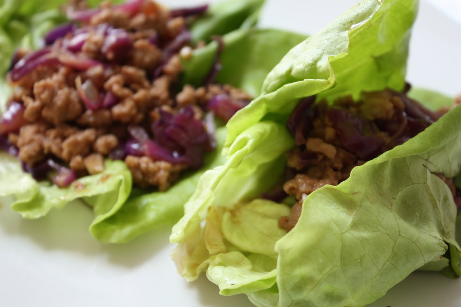 Asian Ground Pork Lettuce Wraps