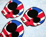 Set of 3 British Flag Punk Skull Refrigerator Magnets -$3-