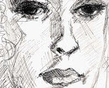 Ink Drawing - Girl Face - Print on Fine Art Paper -$24.99-