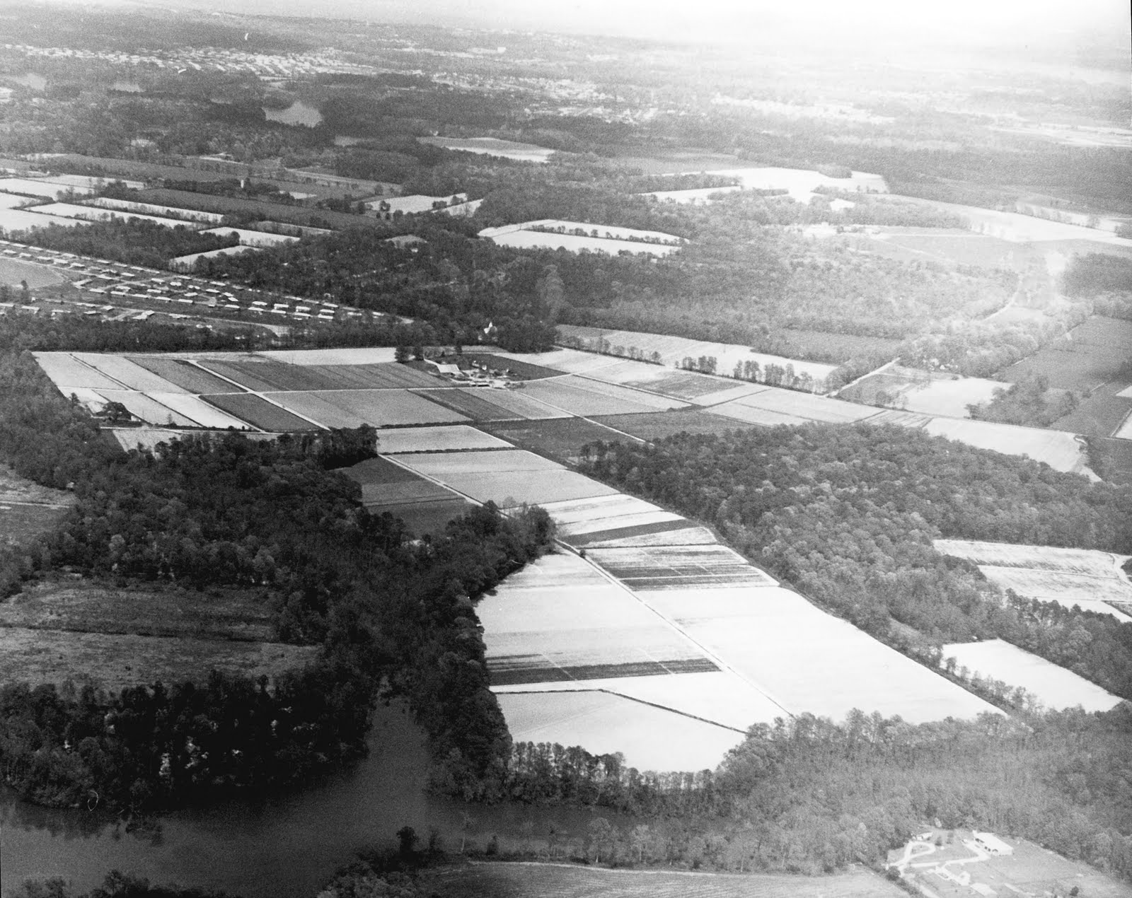 A 1962 aerial view of the