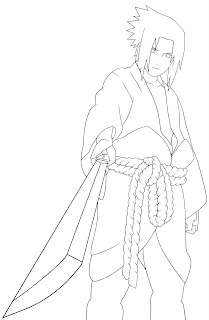 Japanese anime coloring pages of Naruto