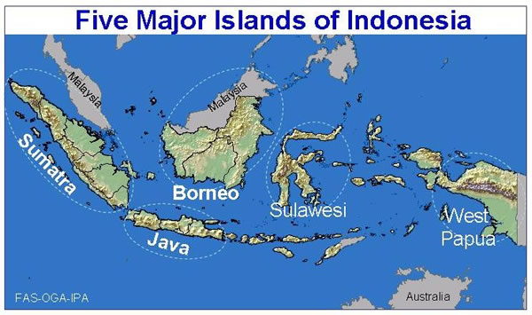 Free Printable Maps: Maps Of Indonesia Islands