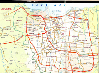 Detailed map of Jakarta