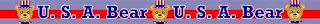 USA Bear patriotic border with Uncle Sam type bear