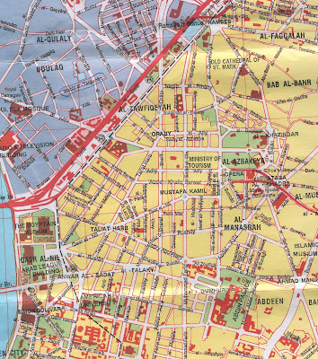 Tourist Map of Cairo Egypt
