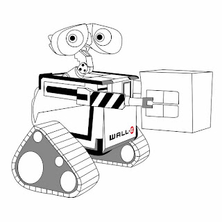 WallE Pixar Coloring Pages