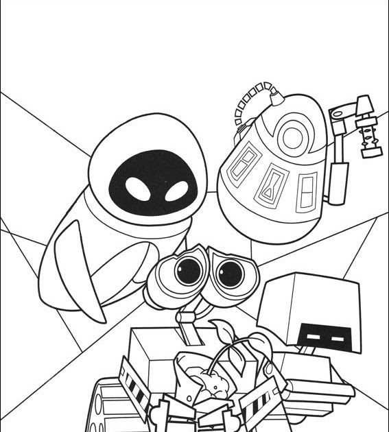 Printable Coloring Pages WallE Coloring Pages