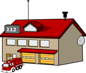 Fire department clip art, fire station