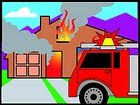 Fire department clipart of house on fire