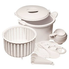 Microwave rice and pasta cooker set from Progressive International
