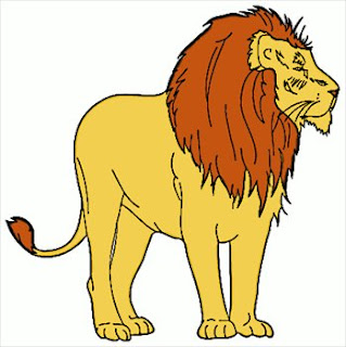 Classic yellow free lion clipart picture