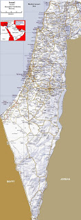 This map of Israel shows lots of detail