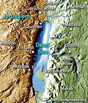 maps of dallas Dead Sea Map