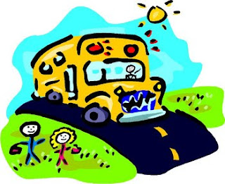 crayon drawing school bus clip art