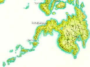 Mindanao island map