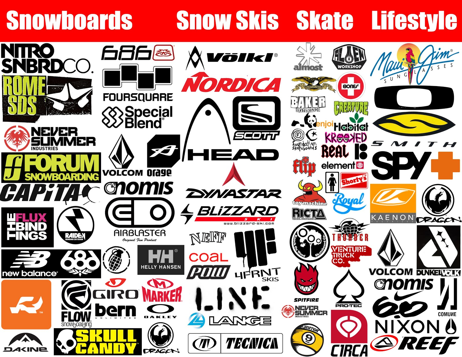 the ski corner knoxville brand overview gear we sell Brand Name Company Logos Sport Clothing Logo C