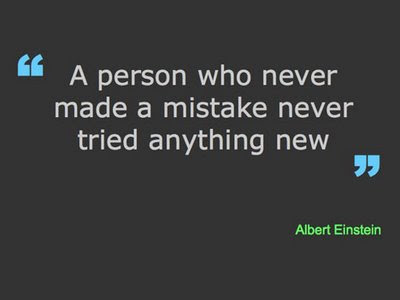 Famous sayings, quotes from famous people: Mistakes are part of life
