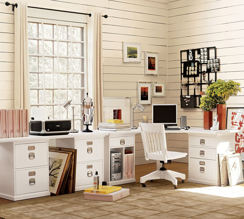 A month by month plan to get your home storage organized for Home office ideas