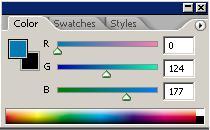 palette meletak warna