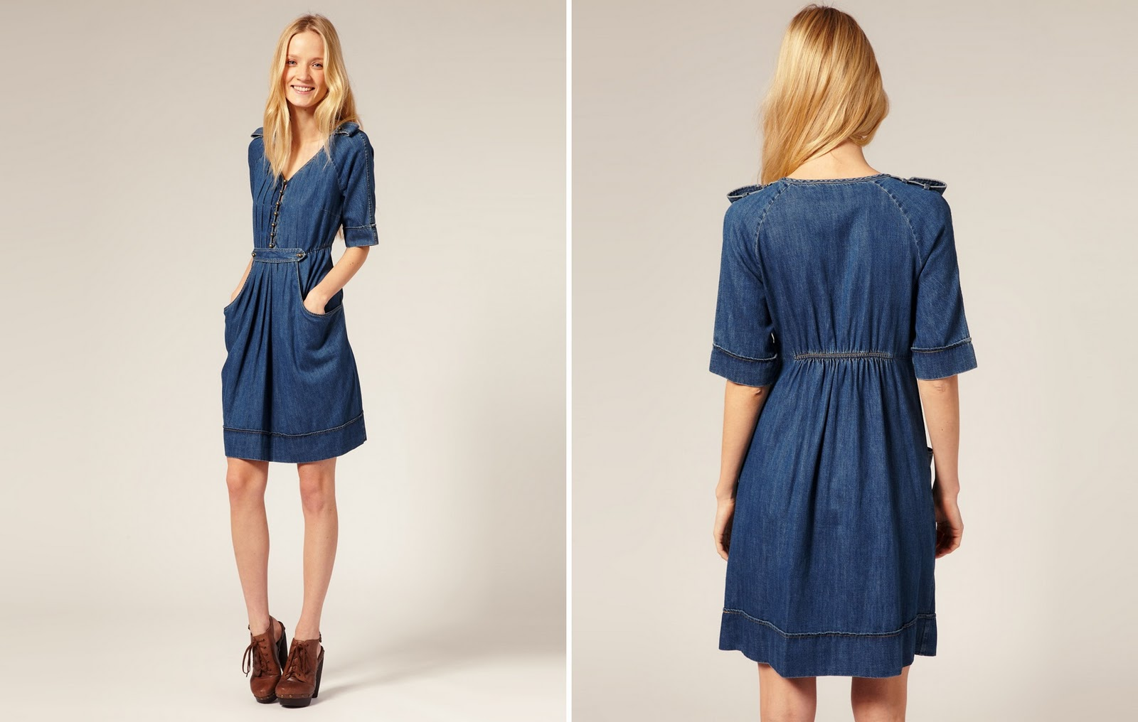 To Guardando o Modelo >> Modelos de Vestido: Vestido Jeans (7)