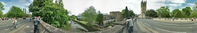 Panorama of Magdalen Bridge in Oxford