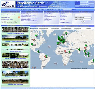 Picture of the panoramicearth.com new homepage